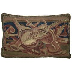 Antique Brussels Tapestry Pillow, circa Late 16th Century