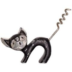 Mid-Century Modern Cat Wine Opener after Walter Bosse Aubock Era