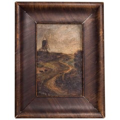 Beautiful Antique Impressionist Painting, 1800s