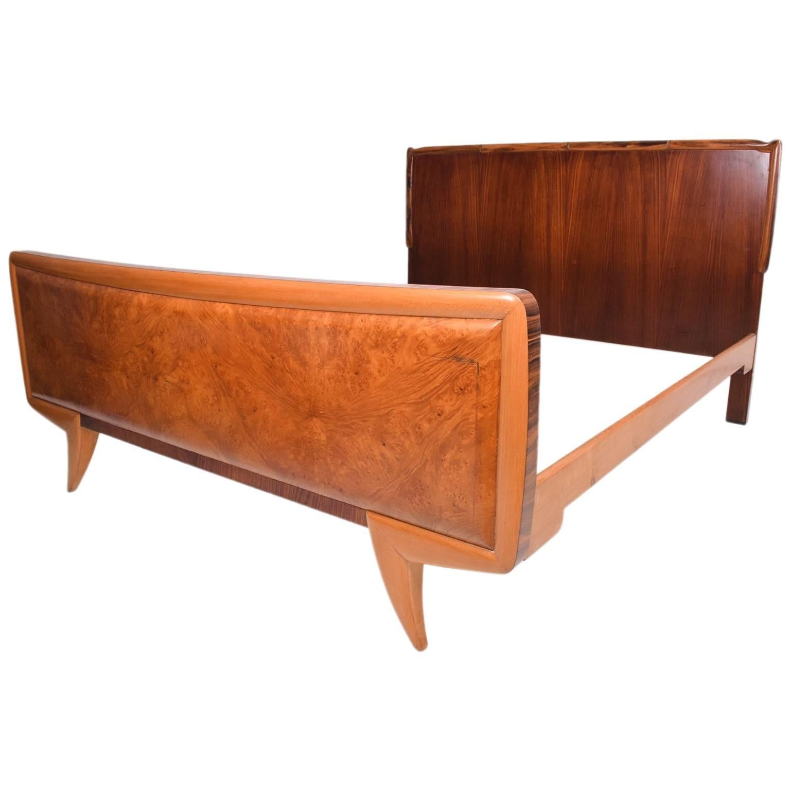 Mid Century Modern Italy Bed Frame For Sale