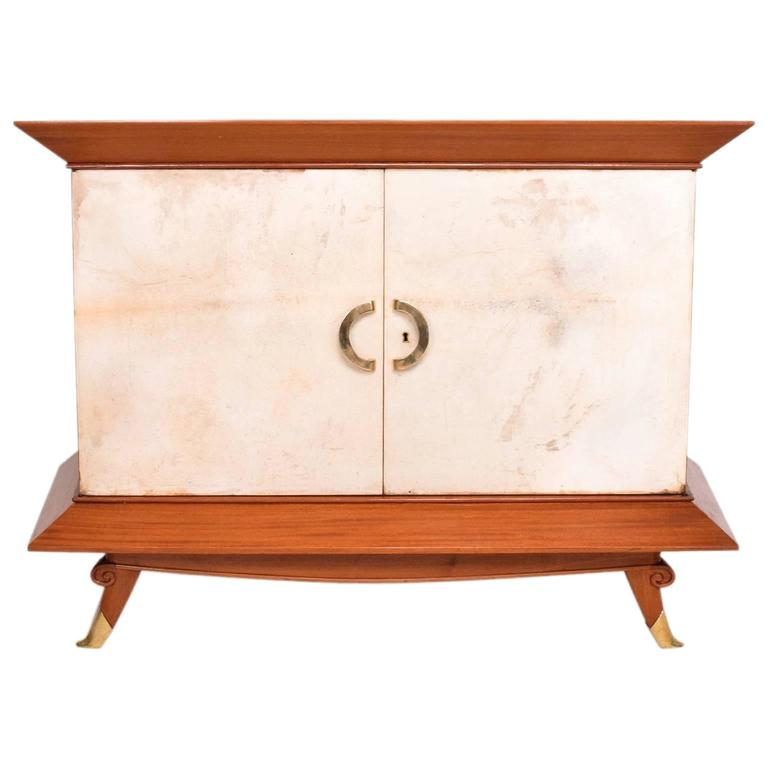 Arturo Pani Cabinet with Parchment Doors Mexican Modernist