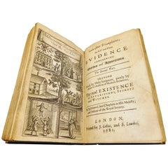 "Glanvil's Book on the Real Existence of Witches, ""Saducismus Triumphatus"", 1681"
