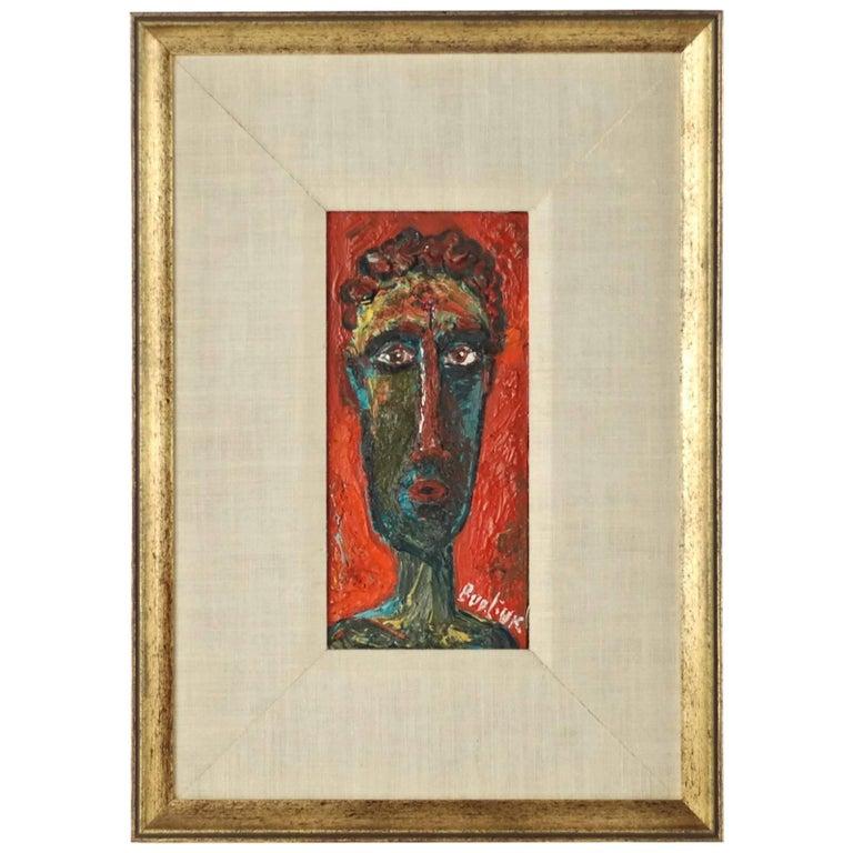 20th Century David Burliuk Neo-Primitive Portrait For Sale