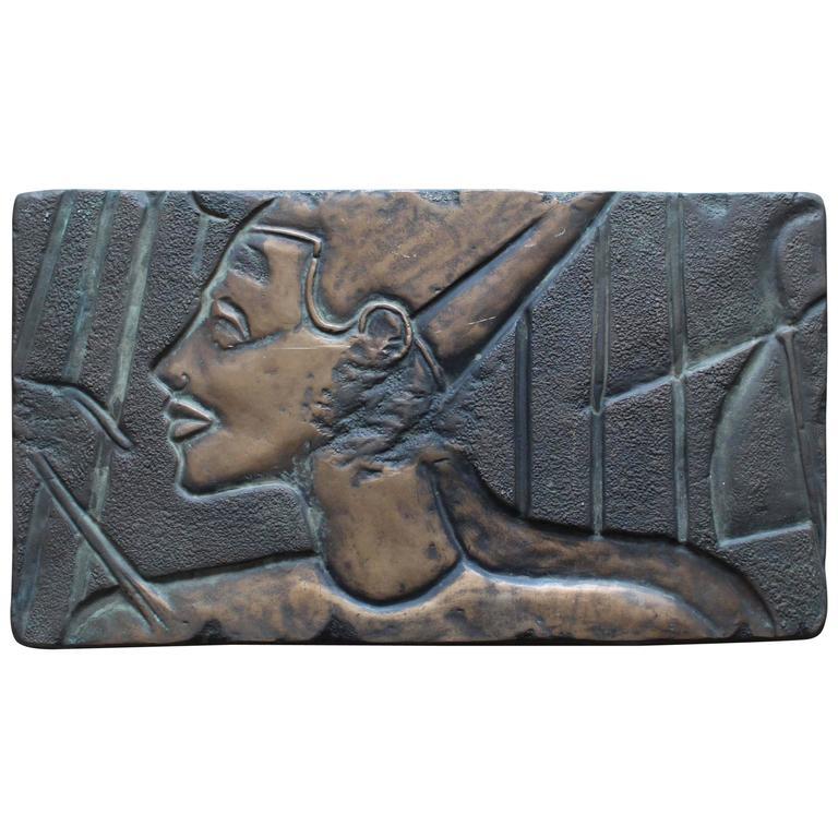 Bronze Nefertiti Plaque