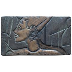 Bronze Nefertiti Plaque