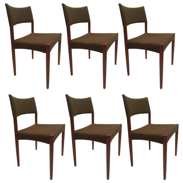 Set of Six V.S. Andersen Teak Dining Chairs