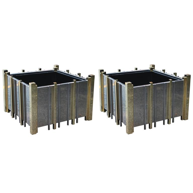 Pair of Planters in the Manner of Paul Evans