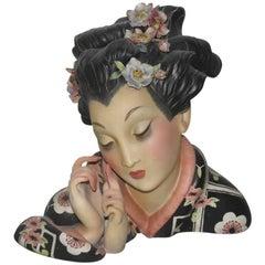 Large Ceramic Geisha Elcod, 1940 Cacciapuoti