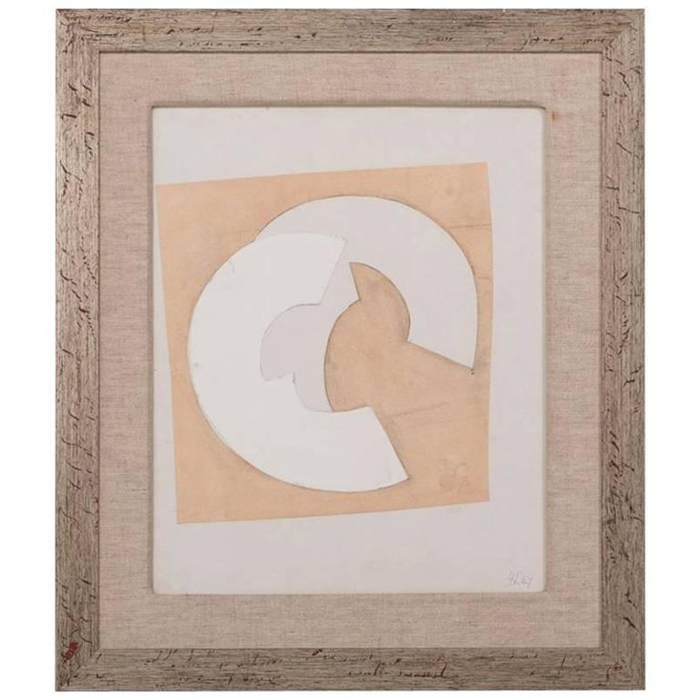 Abstract Collage by Hans Richter, Initialled and Dated 1967