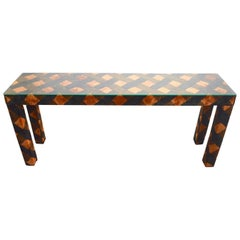 Upholstered Parsons Console Table