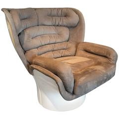 Joe Colombo Space Age Elda Lounge Chair Fiberglass Nabuk