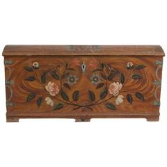 Large Swedish Painted Marriage Chest Dated 1806