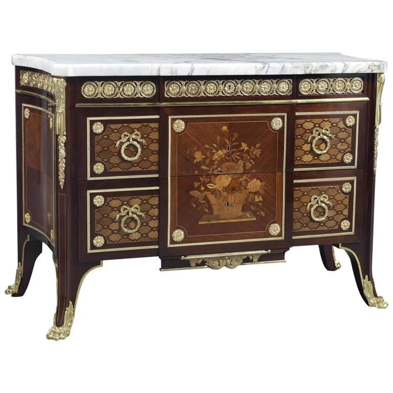 Louis XVI Style Neoclassical Commode in the Manner of Jean-Henri Riesener