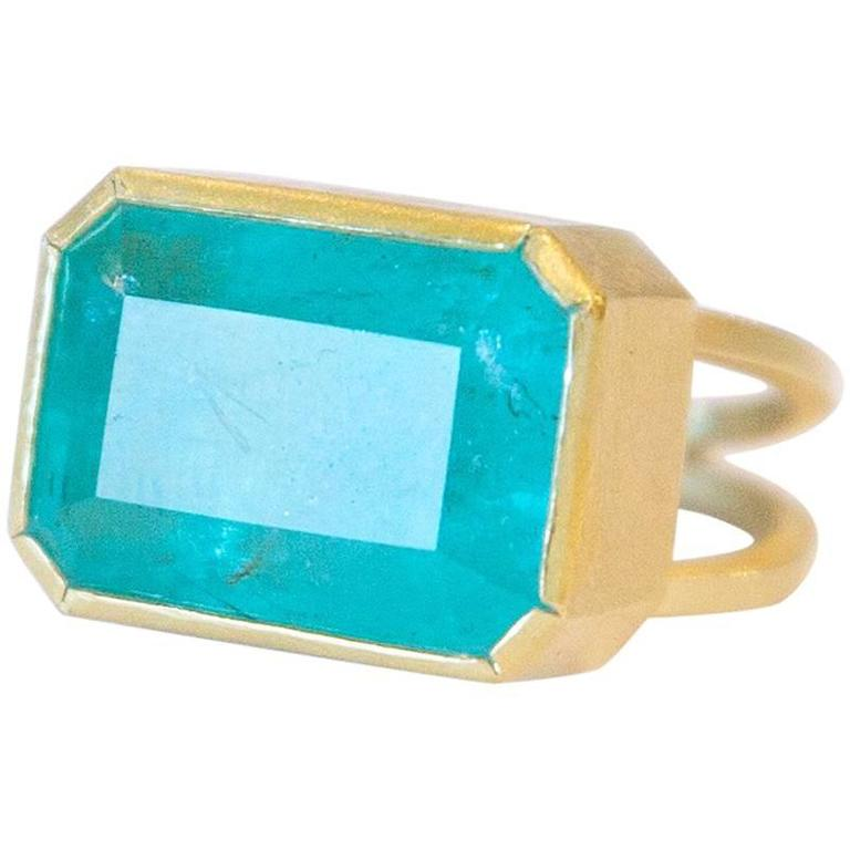 Large Rectangle Emerald Ring At 1stdibs
