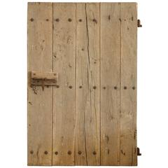 18th Century or Earlier Chestnut Spanish Door with Original Iron Hardware