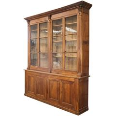 19th Century Directoire Period Walnut Bookcase Cabinet