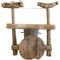 Rare 17th Century Spanish Wooden Wine Press