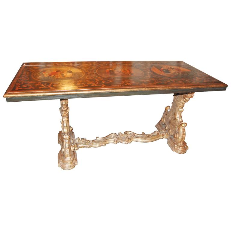 19th Century Italian Library Table For Sale