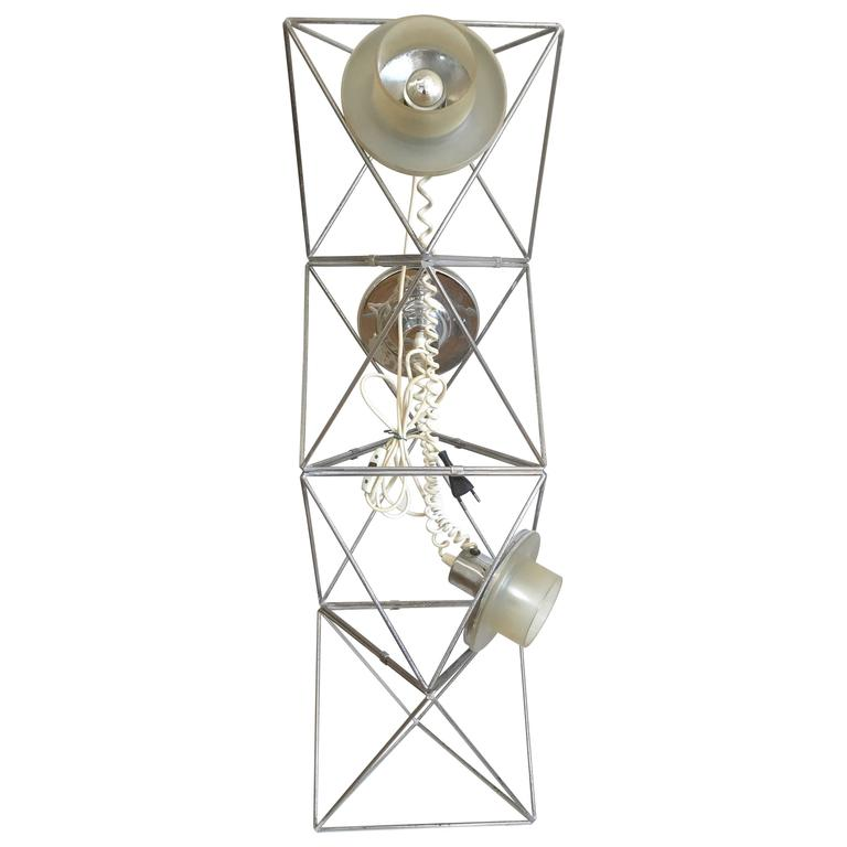 Poliedra Floor or Table Lamp, Design Felice Ragazzo, DH Guzzini, 1969