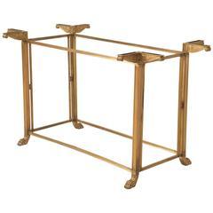 Vintage Bronze Table or Kitchen Island Base