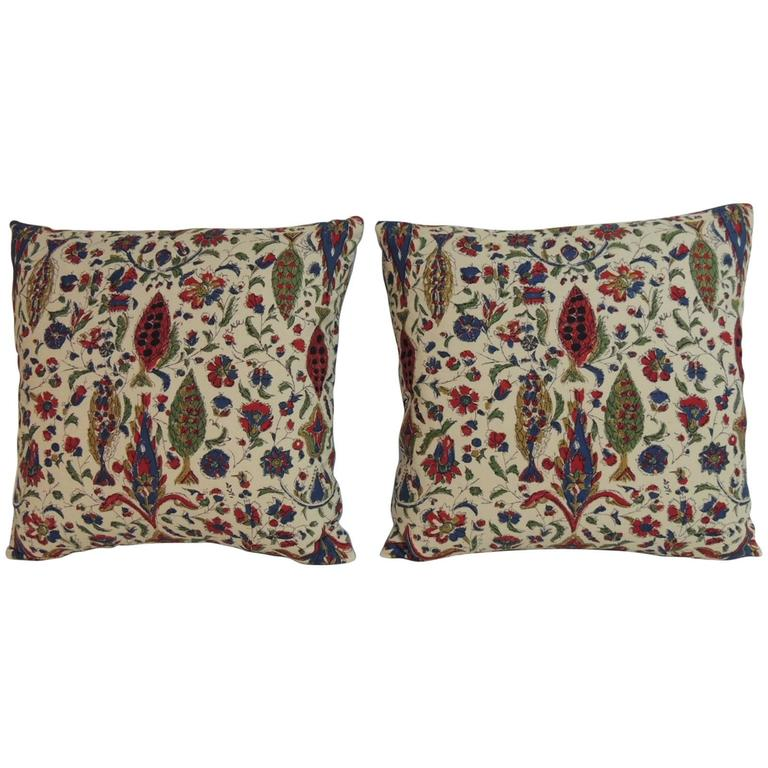 Pair of Vintage Indian Decorative Paisley Pillows
