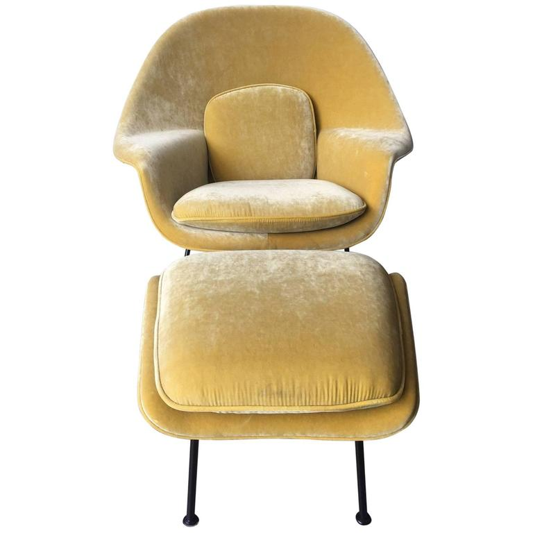 Original Eero Saarinen for Knoll Womb Chair and Ottoman For Sale  sc 1 st  1stDibs & Original Eero Saarinen for Knoll Womb Chair and Ottoman at 1stdibs
