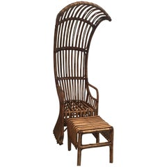 Bamboo Canopy Chair and Ottoman