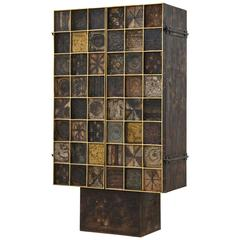 Paul Evans 23 kt Gold Leaf Trim Cabinet, 1965