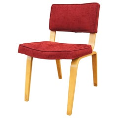 Mid-Century Upholstered Bentwood Side Chair by Thonet