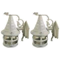 Pair of Nautical Lantern  Sconce