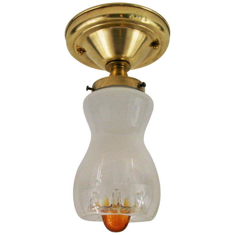 Midcentury Mazzega Ceiling Light(3 available) For Sale