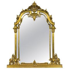 Renaissance Revival Style Over Mantle Mirror