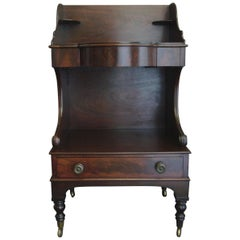 American Federal Mahogany Washstand Side Table
