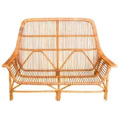 Rattan Arm Bench