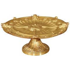 Antique Gilt Bronze Neoclassical Tazza