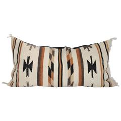Large Navajo Geometric Weaving Bolster Pillow