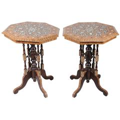 Pair of Moorish Style Occasional Tables
