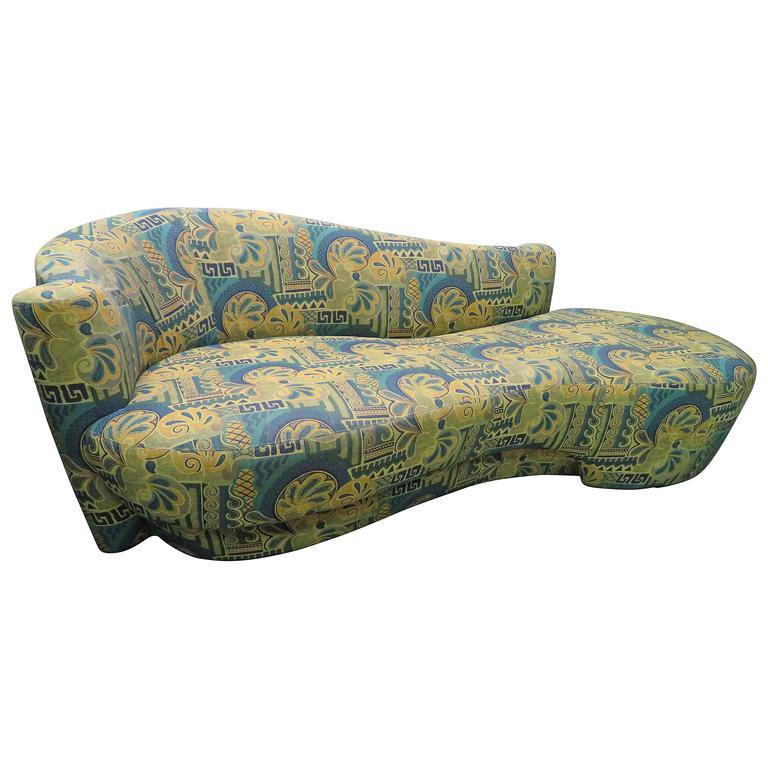 Fabulous Vladimir Kagan Kidney Shaped Cloud Sofa Labeled Weiman 1