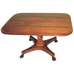 Regency period rosewood breakfast table with rectangular top