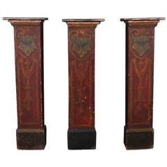 Set of Three Pedestals