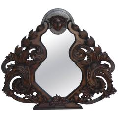 19th Century Heavily Carved Mirror