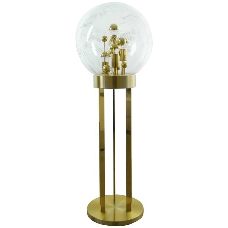 1960s Brass Floor Lamp from Doria, Germany