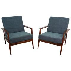 Walter Knoll Easy Chair with Walnut Frame from the 1950s, Germany