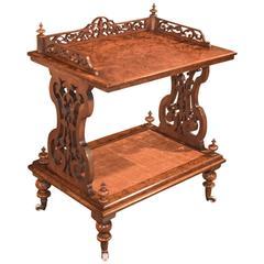 19th Century Side Table Regency Burr Walnut