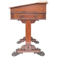 19th Century Mahogany Davenport Attributed Gillows Pedestal Writing Desk