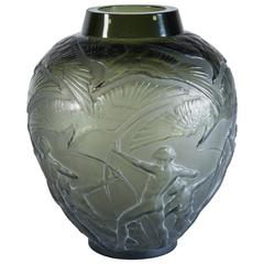 Art Deco Glass Vase 'Archers' Designed by René Lalique, 1922