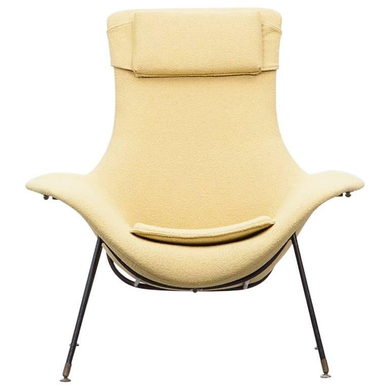 Single augusto bozzi lounge chair for sale at 1stdibs for Single lounge chairs for sale