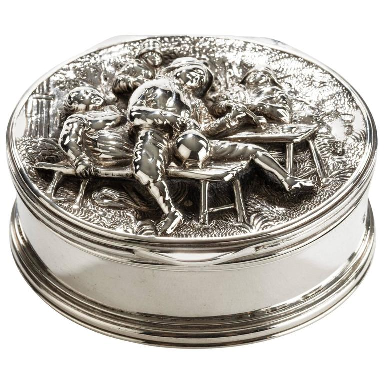 19th century Silver Snuff Box