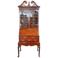 Antique Mahogany Small Bureau Bookcase