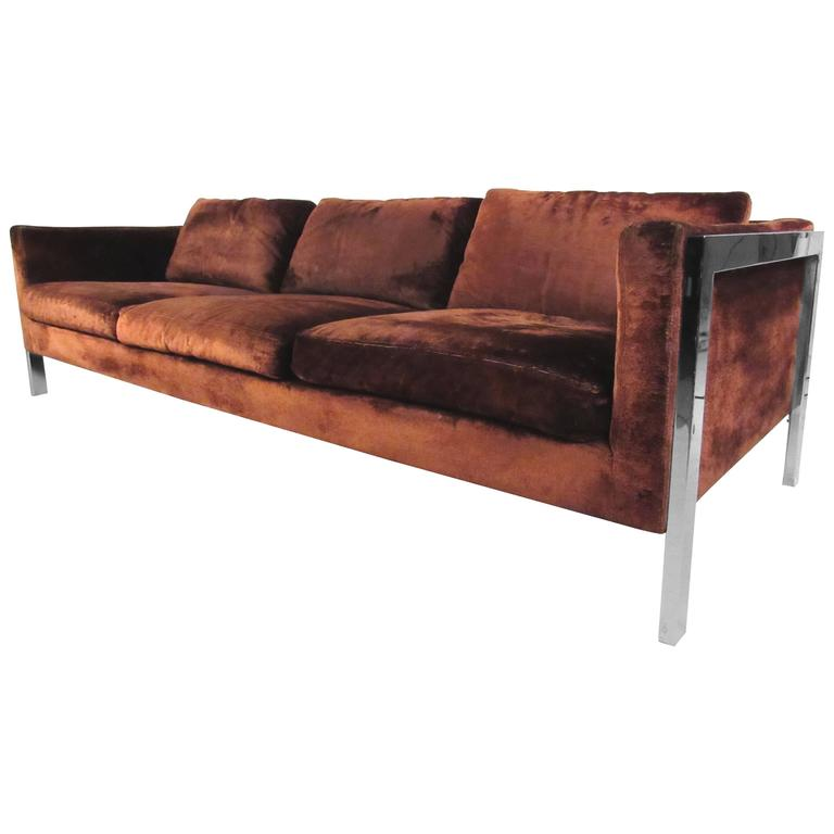 Mid-Century Sofa in the Style of Milo Baughman